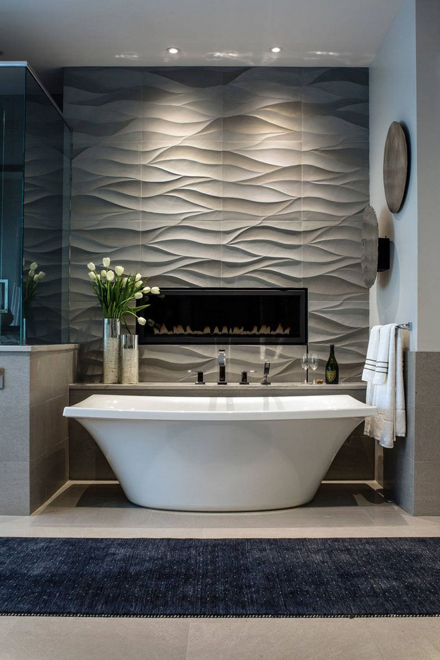 A fireplace in the bathroom? Yes, you read it right!