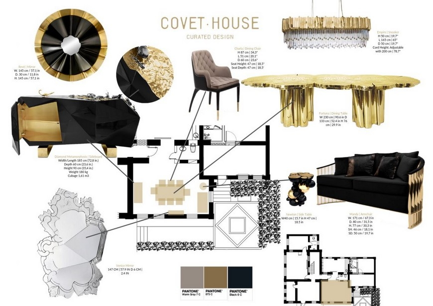Combine Black And Gold Into Your Home Decor, Black And Gold Living Room