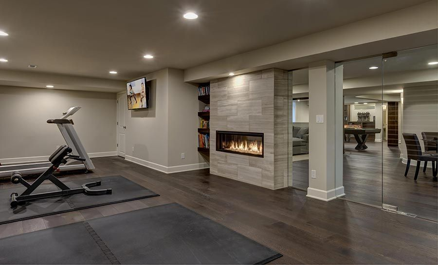 exercise-room-fireplace  Places You Never Thought of Putting a Fireplace Places You Never Thought of Putting a Fireplace 6
