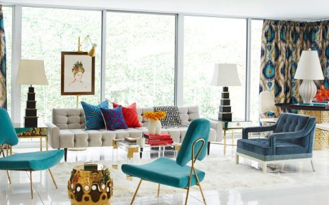 Blue and Alder – A Heavenly Interior Design 18706 The Jonathan Adler Rutledge Sofa well surrounded 480x300