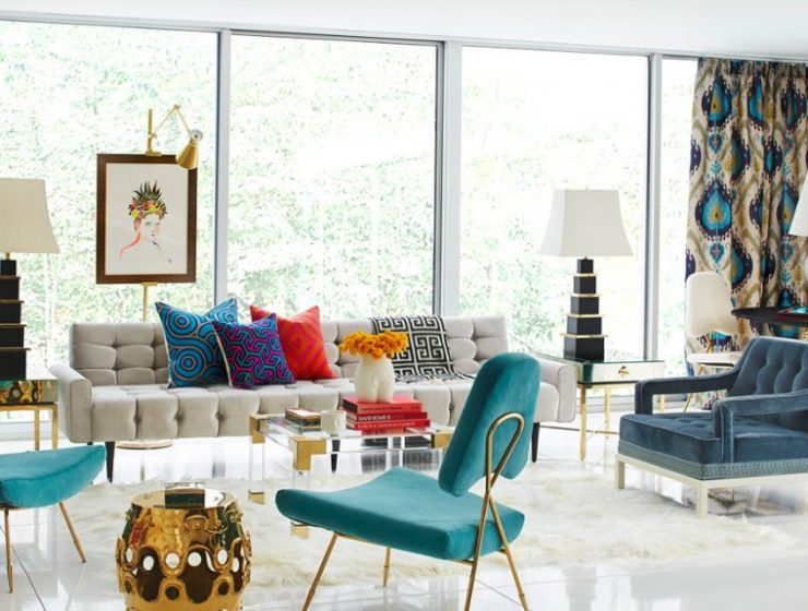 Blue and Alder – A Heavenly Interior Design 18706 The Jonathan Adler Rutledge Sofa well surrounded 740x560